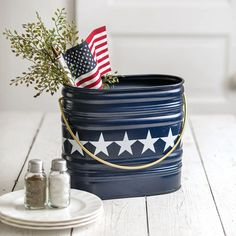 Fourth Of July Decor, 4th Of July Decorations, July 4th, House Decorations, Holiday Decorations, Plastic Ware, July Crafts, Summer Crafts, Kid Crafts
