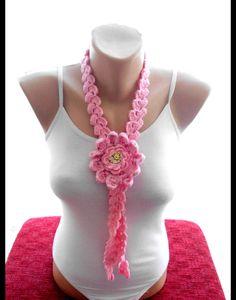 Crochet geblümten lariat Schal Schals Häkeln