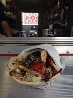 Chicken Kabob in a pita wrap - Yelp