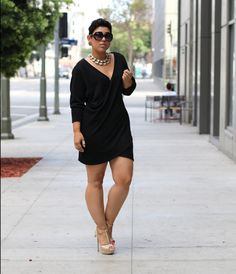"ecstasymodels: "" DIY Sweater Dress Steve Madden Shoes / Necklace (gifted) / Tory Burch Sunglasses Fashion By Mimi G. """