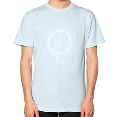 Sacred Geometry Sri Yantra halftone Unisex T-Shirt (on man)
