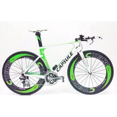 """Aquí os presentamos la Capsule Tempus en formato """"TRI"""". La Tempus por su polivalencia, es la bici más versátil de de la Marca con su configuración en modo """"ROAD"""" o modo """"TRI"""""""