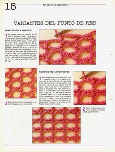 Aprendemos Crochet: Punto Red con variantes y aumentos | Todo crochet