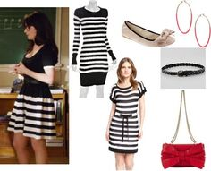 """Get the look: Jess's not-exactly-appropriate-for-teaching dress 01x23 (""""Backslide"""")"""
