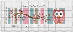 Cross Stitch Owl, Cross Stitch Bookmarks, Cross Stitch Books, Cross Stitching, Cross Stitch Patterns, Alpha Patterns, Crochet Baby, Tatting, Embroidery