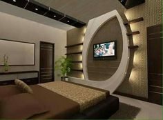 Modern tv wall stands decoration wall mount ideas in bedroom designs for living room led will amaze your unusual modern tv shelf wall mount Wall Unit Designs, Living Room Tv Unit Designs, Ceiling Design Living Room, Bedroom False Ceiling Design, Tv Wall Design, Tv Unit Interior Design, Showroom Interior Design, Modern Tv Wall Units, Tv Unit Furniture
