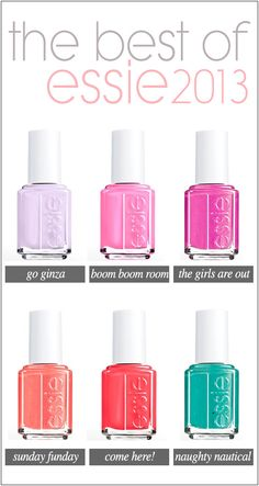 Essie 2013 top nail colors!