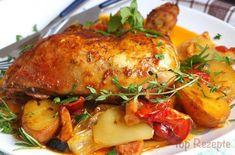 Mariniertes Hähnchen mit Ofengemüse (alles in einem)