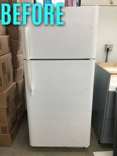 This is so clever! | diy home decor | refrigerator makeover