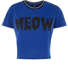 Teens. Pair this meow print t-shirt with black skinny jeans and slip on plimsolls- for Halloween add cat ears for a more stylish costume choice.- Meow print front- Ribbed neck- Simple short sleeves- Soft breathable fabric- Casual fit