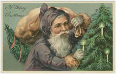 A merry Christmas. (ca. 190-). Before Santa was put in his red uniform!