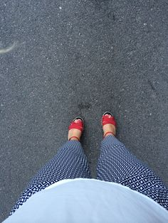 Pants and wedges, simple. Mango/H&M/Hilfiger