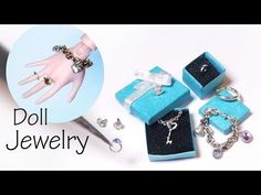 Easy Miniature Jewelry Tutorial; Charm Bracelet, Necklace, Rings, Earrings - YouTube