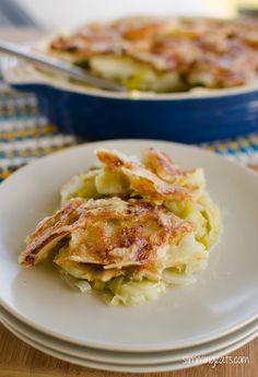 Leek and Potato Bake | Slimming Eats - Slimming World Recipes