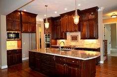 Stapp kitchen4 Bristol Chocolate kitchen @Lily Ann Cabinets.com