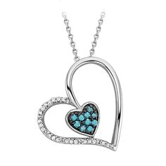 usually not a fan of heart jewelry. but I like the blue.