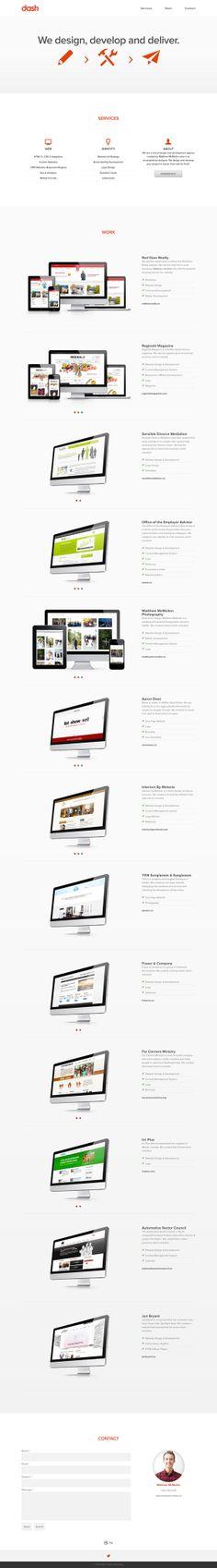 Single page web design