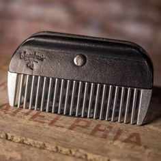 Custom made by Leather Maestro. This metal beard comb is sturdy flows smoothly through your beard and causes very little static or hair loss. Durable will not bend or break. Bonded with high quality Hair Loss Causes, Prevent Hair Loss, Beard Growth, Beard Care, Hair Growth Tips, Hair Care Tips, Hair Tips, Home Design, Best Beard Styles