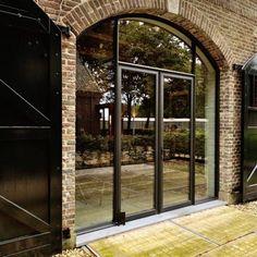 Steel Look Design Kozijnen - Bouten Kozijnen Baarlo-Venlo Girl House, My House, Garage Design, House Design, T Home, House Windows, Terrace Garden, Modular Homes, Home Deco
