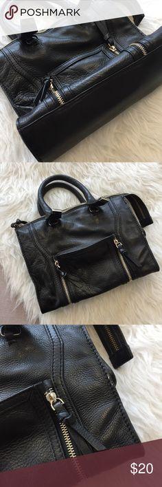 "Zara Bag Black handbag with silver hardware and shoulder strap. 10.25x7.5"". Minor wear, as seen in photo 3. Interior side pocket. ❤no trades Zara Bags"