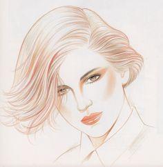 Kojiro KumagaiFrom Illustration for Hair and Makeup (1987)