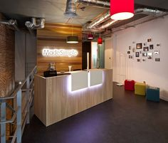 Office Tour: Made Simple U2013 London Offices. Small Reception DeskReception  CounterReception DesignOffice ...