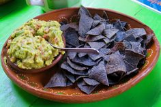 Let's finish off this week with guacamole and blue corn tortilla chips to accompany your Sunday football viewing! Subscribe to SusosFork.com for FREE recipes!