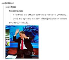 Or that Christians shouldn't write a textbook on religion, only the Christian chapter
