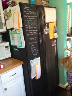 Me and Kevin are chalkboard painting our fridge when we move :)!