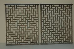 Pair of Antique Chinese Wooden Screen Panel Qing Dynasty 19c