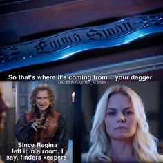 """Finders keepers!"" - Emma and Rumple (as Dark One conscience) #OnceUponATime"