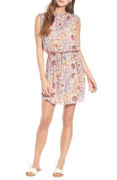 Main Image - Velvet by Graham & Spencer Floral Print Sleeveless Dress