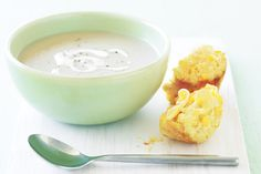 Our favourite cream of cauliflower soup recipe is reinvented in this low-fat version.