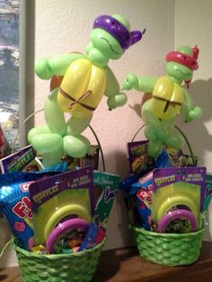 Ninja Turtle Easter Baskets