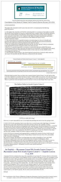 #LinearB #LinearC #Mycenaean #Arcado-Cypriot #Lexicon #Iliad Click to ENLARGE