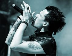Andy LaPlegua of Icon of Coil/Combichrist. Taken by the amazing photographer Claudia Schoene.