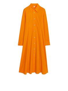 Cotton Crepe Shirt Dress