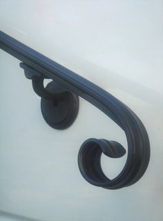 12 Ft Wrought Iron Hand Rail Wall Rail Stair Step by Theironsmith