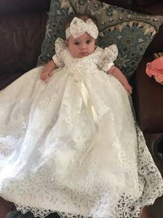 Simply elegant little princess on christening day!