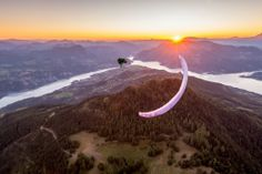 Wing Over at sunset with Jim Nougarolles by Tristan Shu
