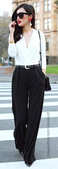 Looking for more comfortable, less fitted pants like these that are still professional-looking
