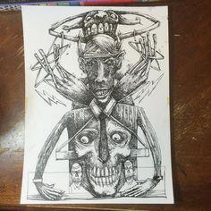 In progress #skull #ink #drawing