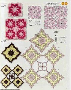 crochelinhasagulhas: Motivos quadrado em crochê