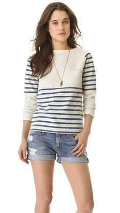 striped knit top $110