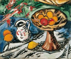 Maurice de Vlaminck, Still Life with Fruit Bowl. 1905-06