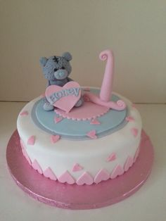 Tatty Teddy 1st birthday cake by www.boutiquebakehouse.co.uk