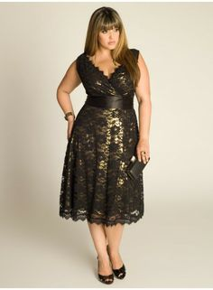 0dbb9c515c8 Leigh Lace Dress in Gold Gold Plus Size Dresses