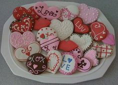 Valentine's Day Gifts, Cookie Gifts, Decorated Cookies, Valentine's Day Cookies, Gourmet Cookies