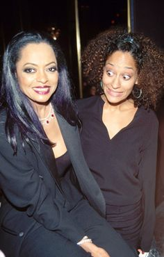 Mother and Daughter. LOL @ Tracee's facial expression.