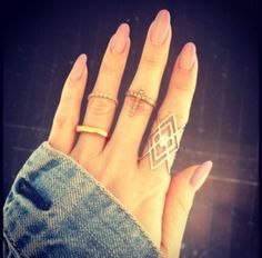 almond shaped simple acrylic nails - Google Search